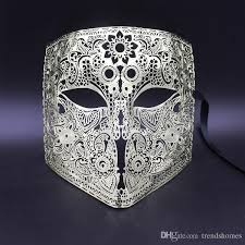 mardi gras skull mask gold men bauta phantom opera venetian masquerade mask