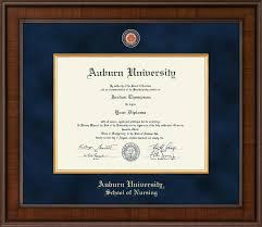 auburn presidential masterpiece diploma frame in