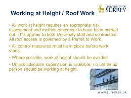 work at height permit seminole work