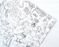 colouring colour giant paper tablecloth poster