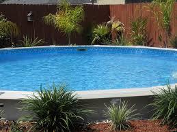 simple landscaping around above ground pool ideas design ideas