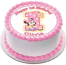 minnie mouse 1st birthday cake baby minnie mouse 1st birthday b edible cake topper cupcake