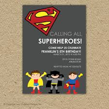 Customized Birthday Invitation Cards Free Birthday Invites Marvelous Superman Birthday Invitations Design