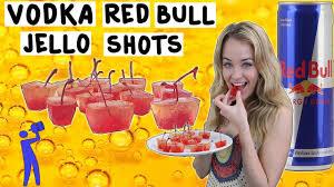 how to make vodka red bull jello shots tipsy bartender youtube
