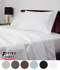 Best Thread Count For Bedding Utopia Bedding Queen Fitted Sheet 200 Thread Count 100 Cotton