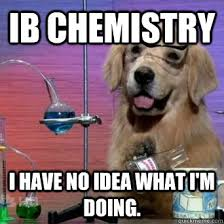 Chemistry Memes - ib chemistry i have no idea what i m doing ib chem quickmeme