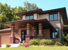 Frank Lloyd Wright Prairie Style by Prairie House Style With Pink Wall Paint Theme Ideas Home