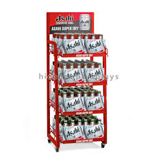 wine display stand wire shelving metal tube 6 tier freestand wine