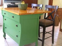 kitchen island with bar seating sink u0026 faucet beautiful dresser into kitchen island repurposed