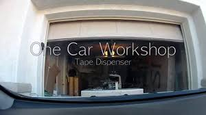Single Car Garage by Tape Dispenser One Car Workshop Youtube