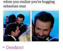 Stan Meme - when you realize you re hugging sebastian stan deadpool stan