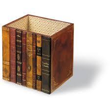 rectangular book spines wastebasket wastebaskets office