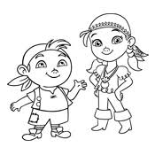 coloring pages jake land pirates disney
