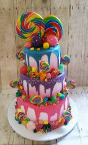 willy wonka candy themed birthday cake candycrush candy