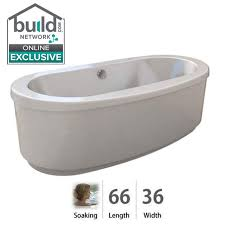 Free Standing Jacuzzi Bathtub Faucet Com Inf6636bcxxxxw In White White By Jacuzzi