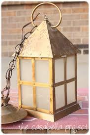 Spray Painting Brass Light Fixtures Brass Light Fixture Makeover