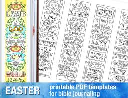 printable easter bookmarks to colour easter 4 bible journaling printable templates illustrated