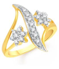 golden rings online images Meenaz golden rings with heart pendant and ring box buy meenaz jpg