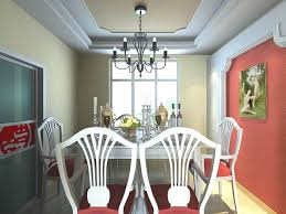 dining room with wall painting 3d cgtrader