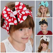 headband with bow new girl headband with big bow kids girl autumn gilding dot