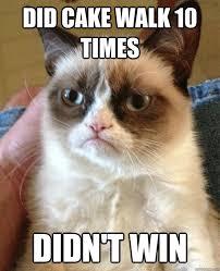 Cake Meme - did cake walk 10 times cat meme cat planet cat planet