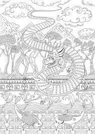 265 colouring dragons lizards snakes zentangles