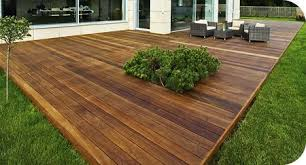 Patio And Deck Ideas Budget Ground Level Deck Cutout Backyard Privacy Pinterest