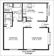 1 bedroom cottage floor plans one bedroom house plans viewzzee info viewzzee info