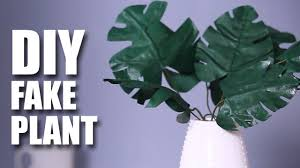 Fake Plants How To Make A Fake Plant Diy Room Decor Idea Mad Stuff With