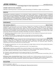 14 best photos of construction resume formats construction