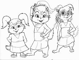 chipettes outline coloring pages coloring pages
