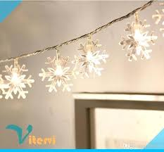 holiday time string lights snowflake string christmas lights 7 colors battery operated icicle