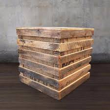 reclaimed wood reclaimed wood side table speaker box free shipping side and
