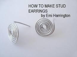 make stud earrings jewelry how to make stud earrings