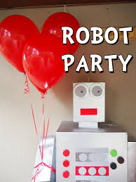 learn with play at home robot party