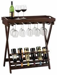 Wine Bar Table Miller 6 Bottle Wine Table Stemware Rack U0026 Serving Tray 655153