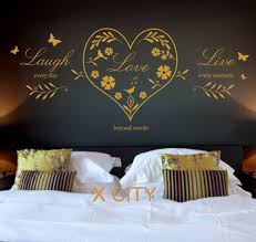 aliexpress com buy live laugh love heart quote creative wall art