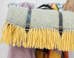 Outdoor Picnic Rug Wool Picnic Blanket Etsy