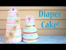 How To Make A Diaper Cake Perfect Baby Shower Gift Idea Youtube