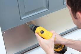 Exterior Door Colors Add A Kick Plate To Dress Up The Front Door Making My Home