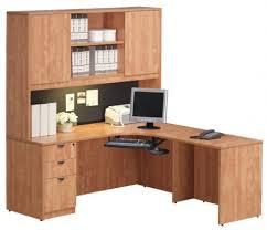 bureau en l bureau en l avec caisson et huche haute mobilium ca