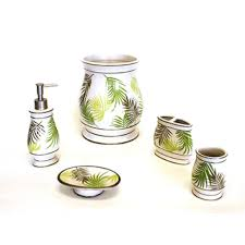 Bathroom Collections Sets Sherry Kline Sago Palm Bath Accessory 5 Piece Set Overstock