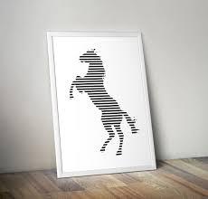 horse printable poster modern wall art illustration minimal