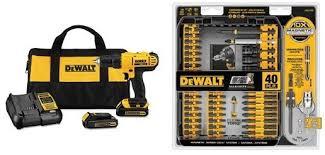 amazon black friday dewalt amazon gold box select dewalt 20v cordless drill bundles on sale