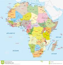 Africa Map Political by Africa Political Map Stock Vector Image 47950522