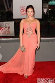 buy demi lovato peach dress red carpet dress from celeblish com