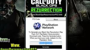 rezurrection map pack call of duty black ops rezurrection map pack ps3 redeem code free
