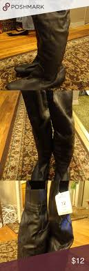 womens flat black boots size 12 s size 12 knee high flat black boots