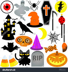 vector of halloween festival theme with ghost pumpkin coffin