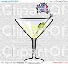 martini transparent clipart fly diver over a martini royalty free vector